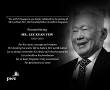PwC Singapore remembers Mr. Lee Kuan Yew – continued