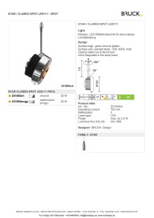 Produktblad Bruck Star Clareo LED111 som pdf.