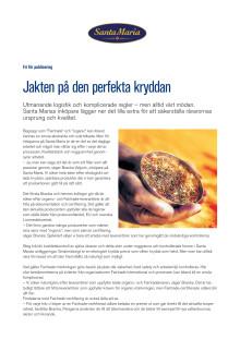 Artikel - Jakten på den perfekta kryddan
