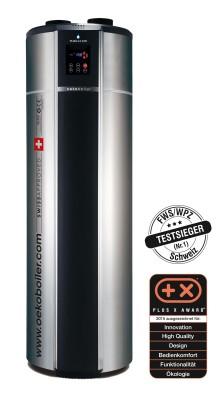 Plus X Award für die Brauchwasser Wärmepumpe der Firma Energiefreiheit