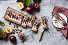 Recept på nektarinpaj med mandelkräm