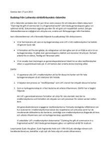 Lutherska världsförbundet uttalande 17 juni 2013