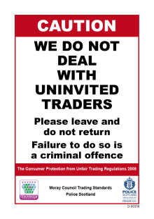Warning as increase in number of rogue doorstep trader season reported.