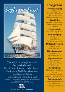 Program Briggen Tre Kronor i Helsingborg 30 juli - 4 augusti 2012