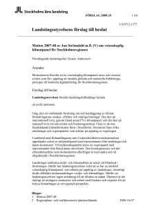 Motion om vetenskaplig klimatpanel (V)