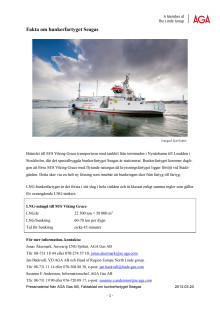 Fakta om bunkerbåten Seagas