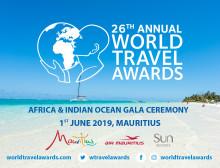 "Mauritius als Gastgeber der ""World Travel Awards Africa &  Indian Ocean Gala Ceremony 2019"""