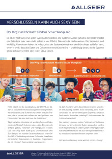 Abstract: Microsoft Modern Secure Workplace - Worum geht`s?
