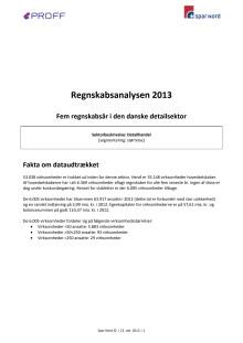 Regnskabsanalysen 2013 - Fem regnskabsår i den danske detailsektor