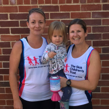 Mum training hard for first half marathon to thank charity who helped her family