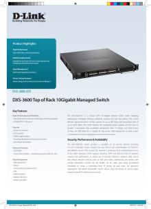 Produktblad D-Link DXS-3600