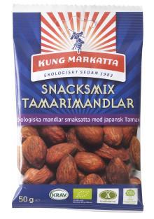 Kung Markattas ekologiska snacksmixer utökas med Tamarimandlar