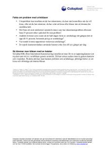 FAKTABLAD: Problem med urinblåsan och tappningskateter