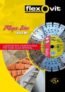 Diamantklinge Mega-Line Laser MP+ til forskellige materialer - Brochure