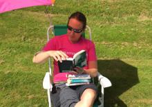 Biblioteket i Grums besöker beachen i sommar
