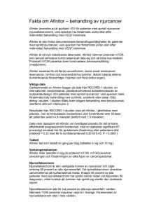 Afinitor - för behandling av njurcancer