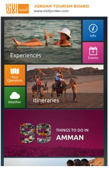 Jordanien vinner pris för bësta turist-app