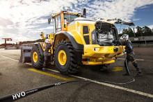 Provkörning av nya Volvo hjullastare 'Upgrade 2.0' på Rally Sweden