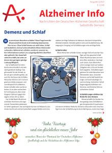 """Alzheimer Info 4/2017 zum Thema """"Demenz und Schlaf"""" erschienen"""