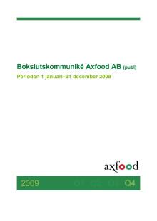 Axfoods bokslutskommuniké