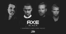 Malcolm B, Andreas Moe och Cape Lion i samarbete för nya doften AXE BLACK