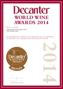 Capoccia Red 2013 Bronze Decanter 2014