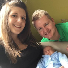 Parents of extremely premature baby boy are smashing their fundraising target for The Sick Children's Trust
