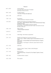 Digital humaniora: Symposium med N. Katherine Hayles