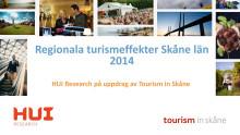 Skåne visar kraftigt ökad turismomsättning 2014