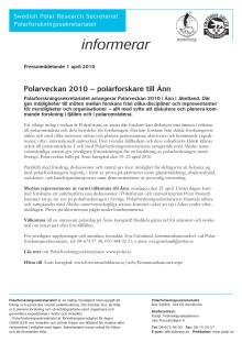 Polarveckan 2010 – polarforskare till Ånn