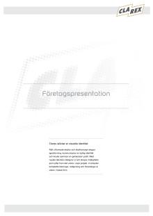Clarex Företagspresentation