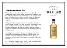 Four Pillars Chardonnay Barrel Tasting Notes
