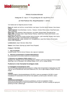 Referat af Landskomitémøde 28. maj 2016
