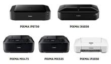 Canon förstärker PIXMA-serien med fem nya modeller för hem och kontor