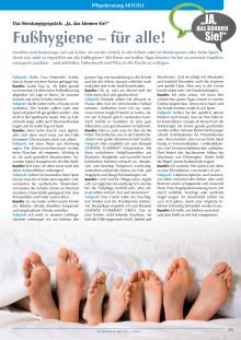 Das Beratungsgespräch: Fußhygiene – für alle!