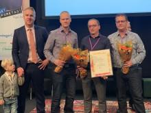 Isah Mujkovic, Christopher Sandqvist och Roger Gustafsson och Karlskrona Industrimekano AB är Årets Nyföretagare!
