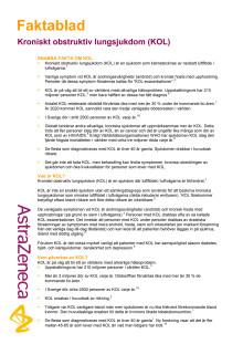 Fakta om KOL, kroniskt obstruktiv lungsjukdom