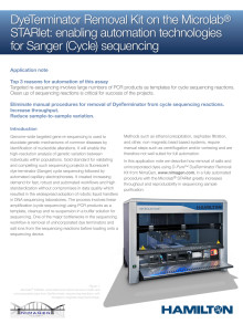Application Note: Enabling automation technologies for Sanger (Cycle) sequencing