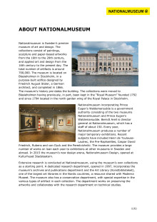 About Nationalmuseum and the collections