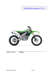 Modellinformation KX450F