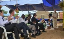Högtidlig invigning av laboratoriet i Benin