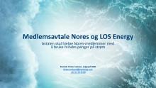 LOS Energy og medlemsavtale med Nores