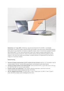 Pressemeddelse Zenbook S13 Dansk