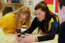 Olympier inspirerar barn i Sundsvall att nå  100 varv runt jordklotet för en bättre värld