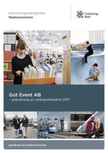 Got Event – granskning av verksamhetsåret 2017