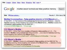 Hackers utnyttjar McAfees falsklarm för scareware attacker