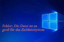 """Gelöst – """"Die Datei ist zu groß für das Zieldateisystem"""" (4 Methoden)"""