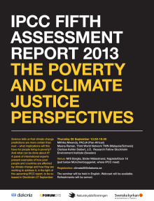 IPCC FIFTH ASSESSMENT REPORT 2013 The Poverty and Climate Justice Perspectives