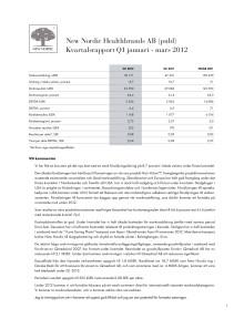 Delårsrapport Q1 2012