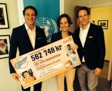 O'Learys skänker en halv miljon till FN:s skolmatsprojekt.